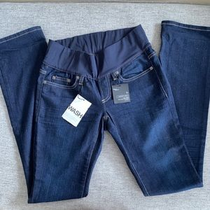 New Gap Maternity demi panel perfect Boot jeans 0